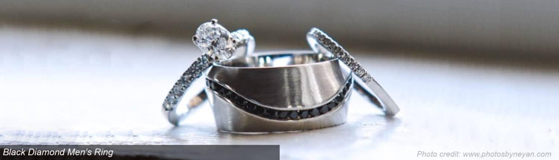 Black Diamond Engagement Men's Ring