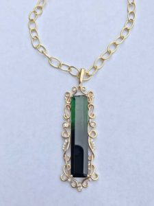 Bi-Color Tourmaline Design