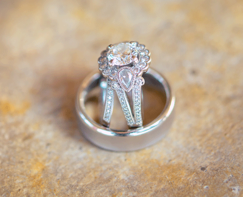 Scallop Halo Engagement Ring