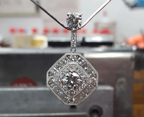 Custom Diamond Pendant