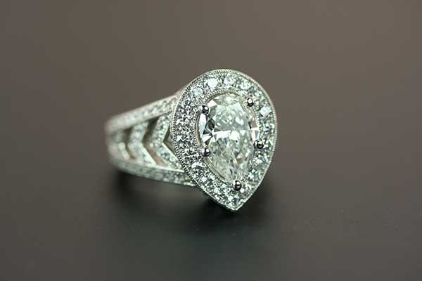 Pear Shaped Diamond Anniversary Ring