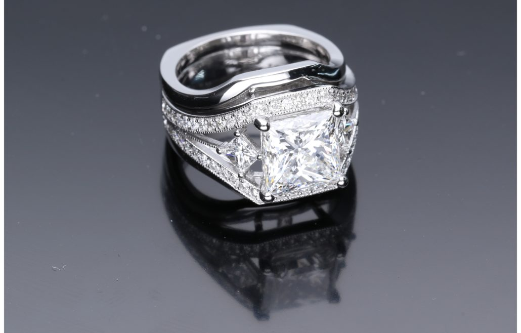 Customized Diamond Engagement Ring house of Diamonds